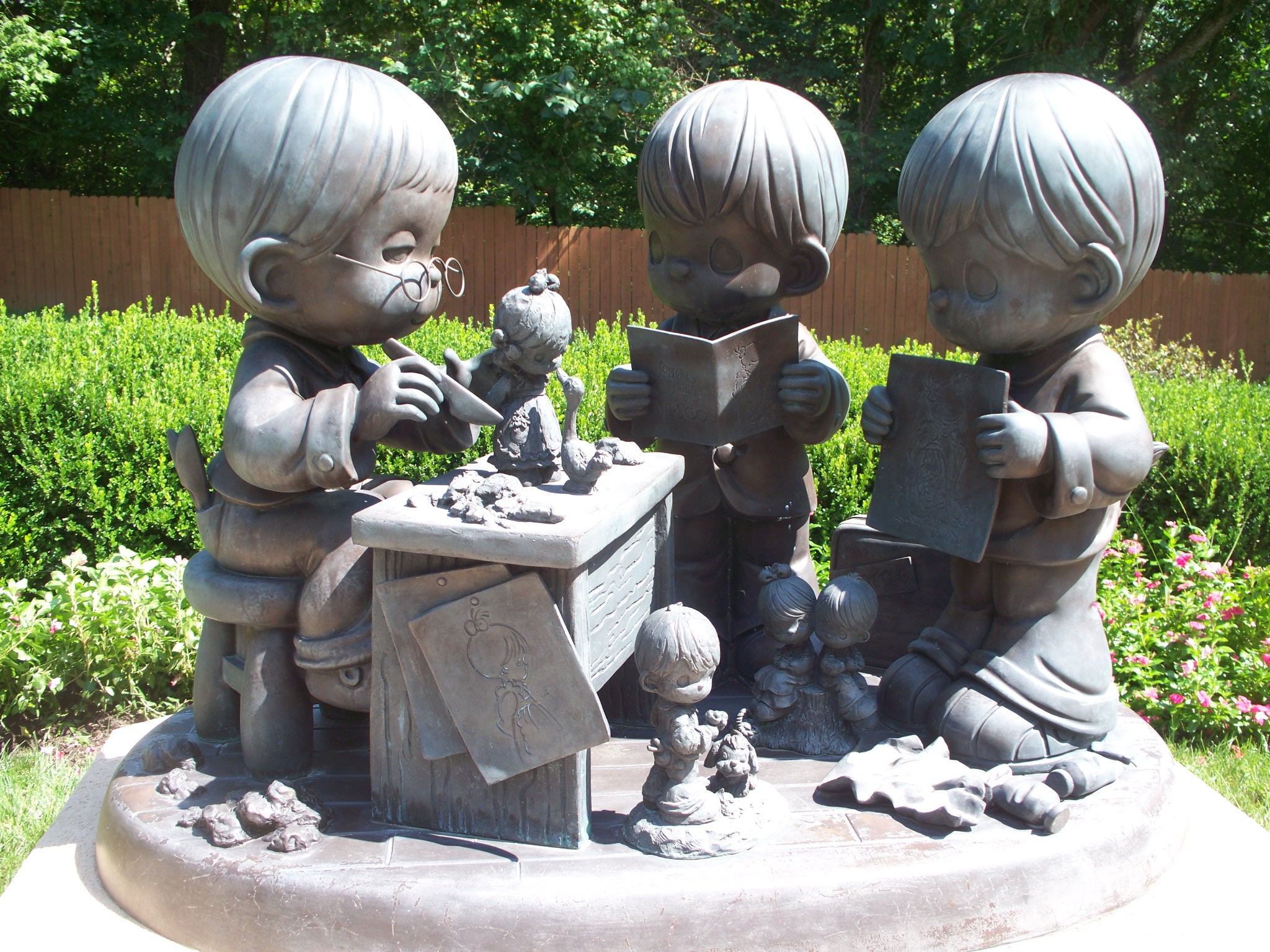 Outside There Are Gardens With Precious Moments Statues Everywhere. You Can  Walk To All Corners Of The Property And Finding Something More Beautiful  Than ...