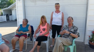 Aunt Cecile, Cindy, Bonnie, and Sonny