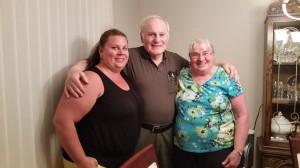Becky, John and Bridgette